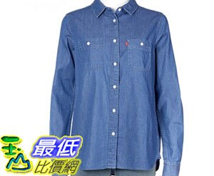 [COSCO代購如果沒搶到鄭重道歉]  Levi's 女長袖牛仔襯衫 淺藍色/深藍色 _W1008749