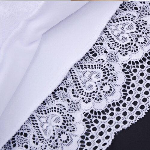 背心 /小可愛 - 短袖鏤空蕾絲胸墊短版上衣【29076】藍色巴黎《2色》現貨+預購 3