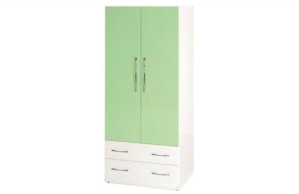 【石川家居】821-03(綠白色)衣櫥(CT-110)#訂製預購款式#環保塑鋼P無毒防霉易清潔
