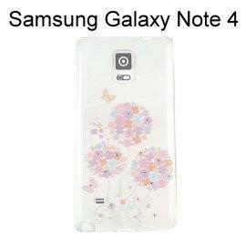 施華洛世奇彩鑽透明軟殼 [繽紛花] Samsung Galaxy Note 4 N910U