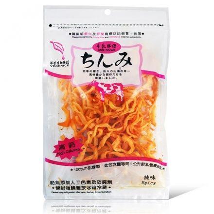 (祥榮) 牛乳鮮絲-辣味(奶素) 80g/包