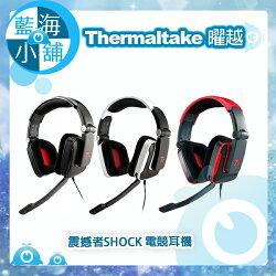Thermaltake 曜越 Tt eSPORTS 震撼者SHOCK 電競耳機(黑/白/紅)(HT-SHK002EC)