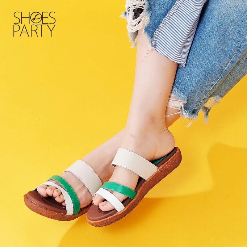 【S2-17621L】Simple+久走不累撞色涼拖鞋_Shoes Party 4