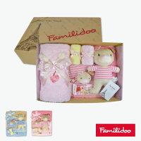 彌月禮盒推薦[Familidoo]米多雪絨花毛巾 新生禮盒/彌月禮盒