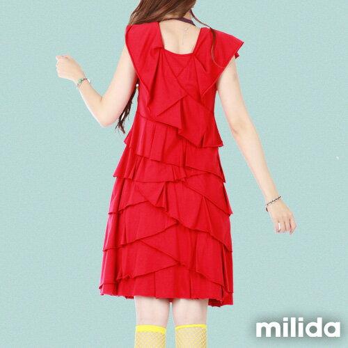 【milida】MMRYDP004☆長版荷葉邊連身裙 3