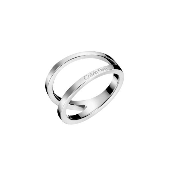 【錶飾精品】Calvin Klein CK飾品 KJ6VMR0001-完美流線 女性戒指 銀 316L白鋼 全新原廠正品