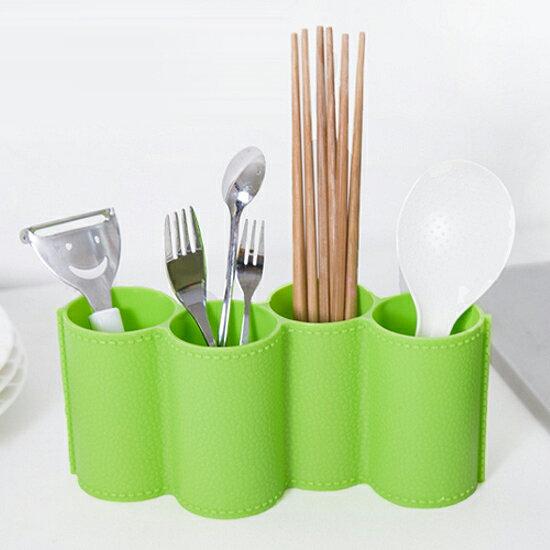 ♚MY COLOR♚創意造型瀝水收納盒 碗盤 杯子 筷子 湯匙 叉子 瀝乾 清潔 蔬菜 水果【G66-2】