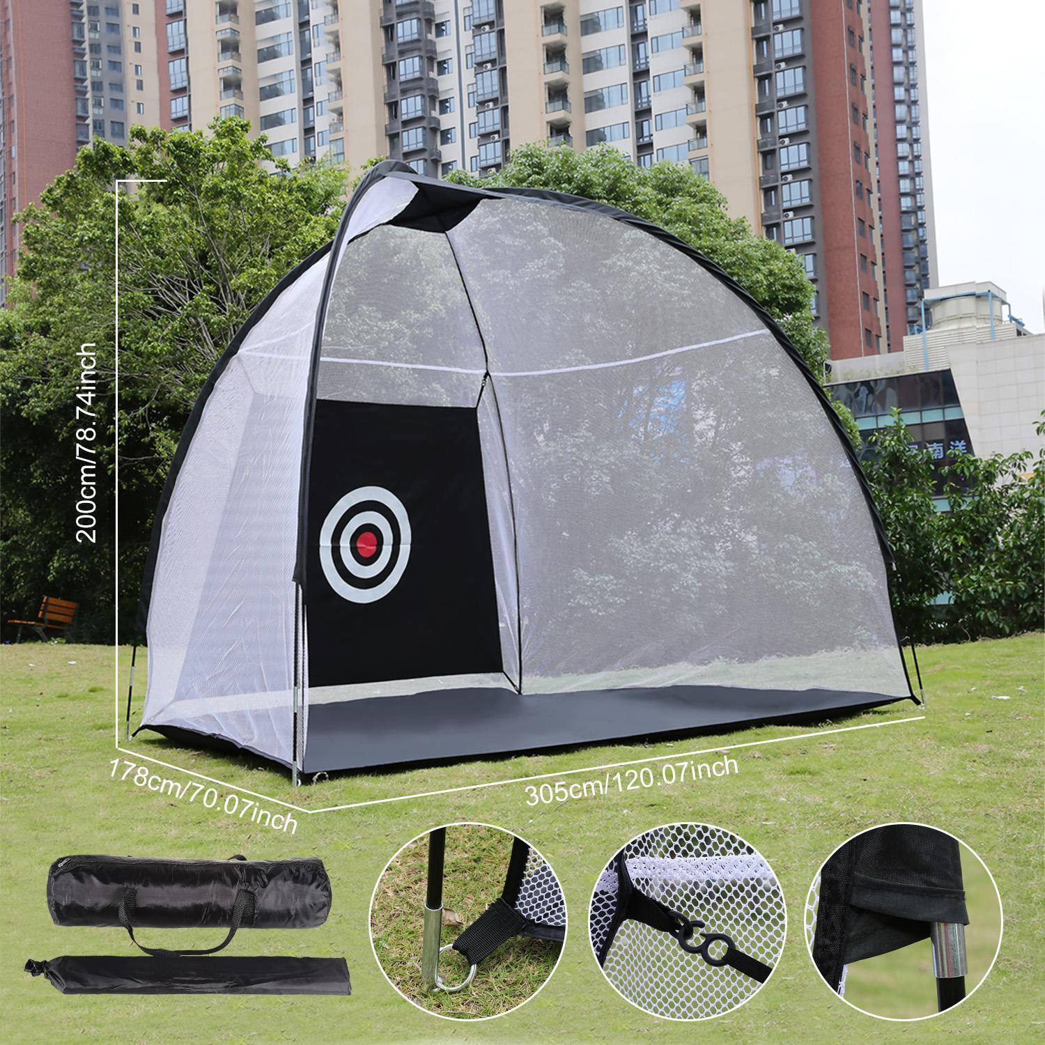 Portable Golf Net with Chipping Target and Carry Bag Large Size 5
