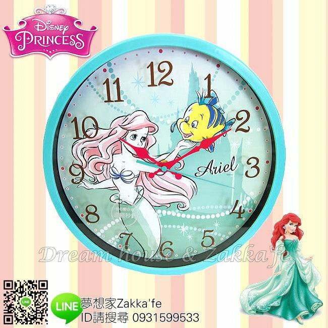 日本正版 Disney 迪士尼 小美人魚 人魚公主 掛鐘/時鐘《 靜音無聲連續機芯 》★ 簡單時尚可愛 ★ 夢想家精品家飾