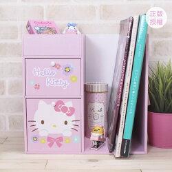 HELLO KITTY 繽紛系列-桌上型資料收納架 置物櫃 小物收納 文具收納 台灣製 三麗鷗 Sanrio[蕾寶]