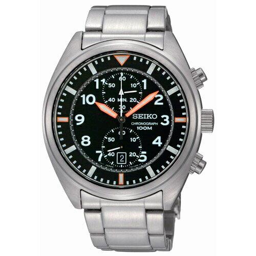 新年特惠4折起  SEIKO 型男采風計時腕錶/SNN235P1(7T94-0BL0S) 情人節寵愛禮