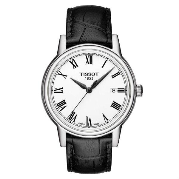 TISSOT天梭T0854101601300CARSON系列羅馬簡約經典腕錶銀40mm