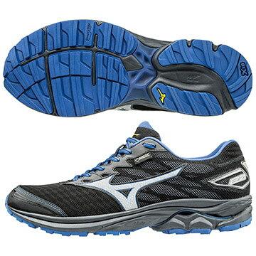 J1GC177403(黑X藍)  WAVE RIDER 20 G-TX  新雲波浪片、防水透氣GORE-TEX男戶外慢跑鞋S【美津濃MIZUNO】