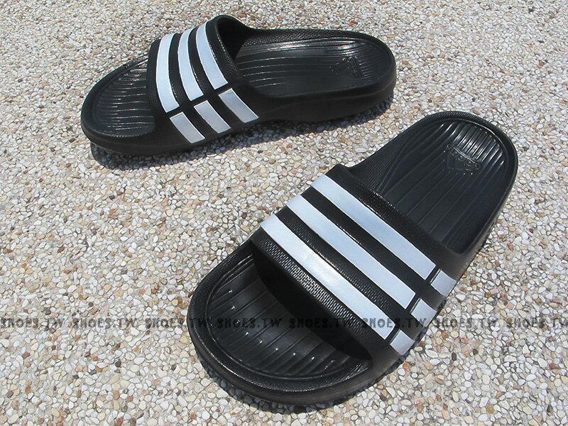 Shoestw【G06799】ADIDAS DURAMO K SLIDE 拖鞋 中童 一體成型 黑色
