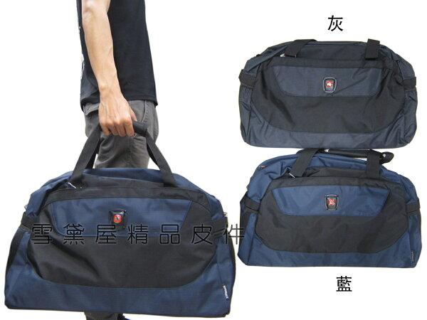 ~雪黛屋~SPYWALK旅行袋中容量主袋內二暗袋防水尼龍布壓扁收不占空間固定於拉桿手提肩背斜側背附護肩長背SD7188