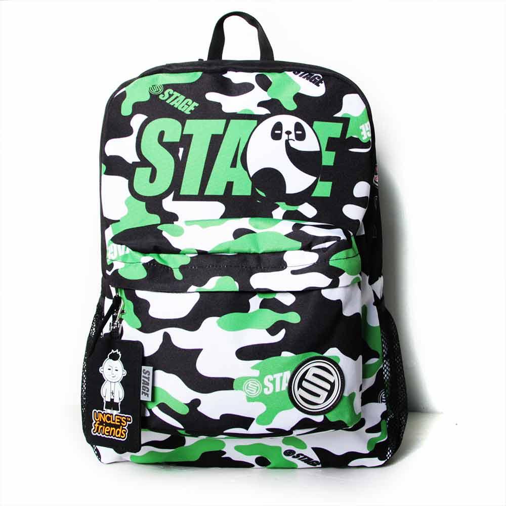 STAGE BAG × UNCLES FRIENDS CANCER BACKPACK 綠黑色 巨蟹座 2