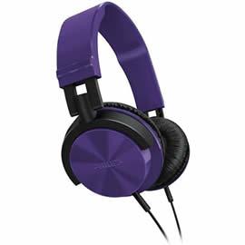 志達電子 SHL3000 紫(PP) PHILIPS 耳罩式耳機 DJ 監控風格設計 MDR-ZX100 ATH-SJ11