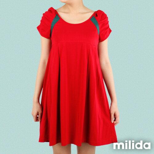 【Milida,全店七折免運】-早春商品-公主袖-舒適寬版洋裝 5
