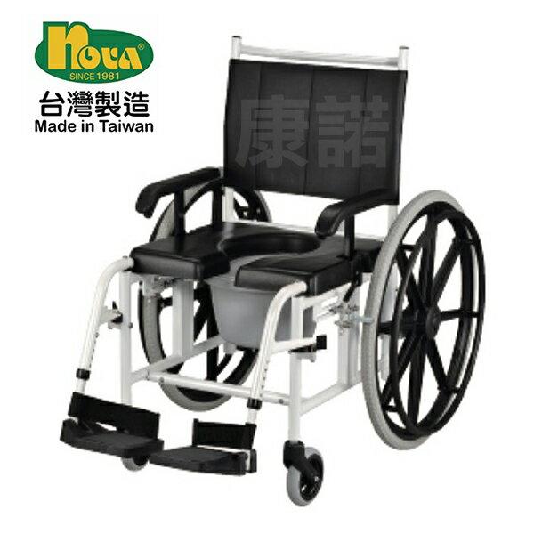 【光星NOVA】AMIGO鋁製洗澡椅馬桶椅兩用輪椅,NOVA輪椅(未滅菌)