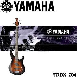 【非凡樂器】YAMAHA TRBX204 電貝斯 紅色 擁有強力拾音器系統的平價電貝斯 【含背帶,導線,保養組,調音器】