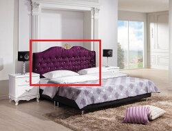 【石川家居】YE-A27-01 溫妮莎5尺紫色絨布床頭片 (不含床底及其他商品) 台北到高雄搭配車趟免運