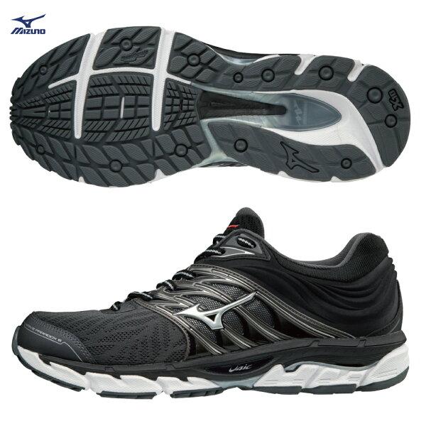 J1GC184003(黑X銀)WAVEPARADOX5支撐型男款慢跑鞋【美津濃MIZUNO】