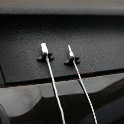 約翰家庭百貨》【Q315】汽車線材整理夾 多功能線卡 線扣 束線夾 理線器 整線器 汽車導航 車充 8個裝 隨機出貨