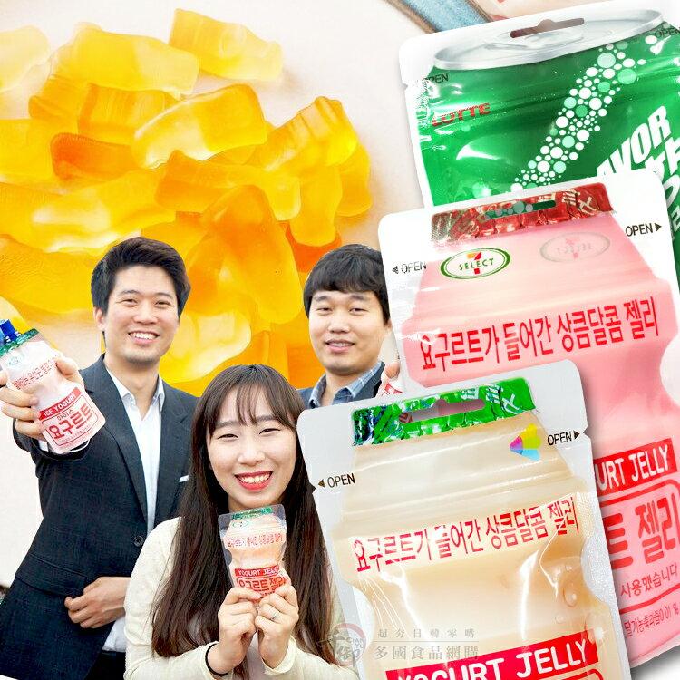 韓國LOTTE 養樂多果凍QQ軟糖 50g 原味 可樂 草莓 雪碧 香蕉 青蘋果口味[JP880106232] 千御國際