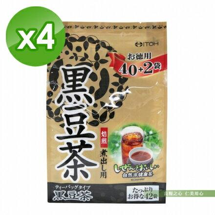 日本ITOH井藤漢方 德用黑豆茶(210g)x4 - 限時優惠好康折扣