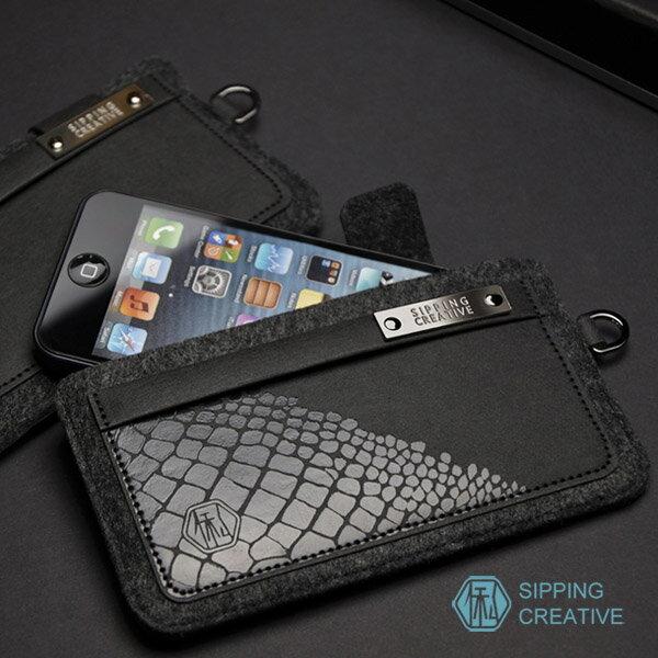 設計款紙革鱷魚紋iPhone保護套(適用5SE)5217SHOPPING