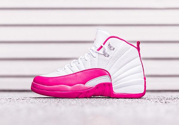 【蟹老闆】NIKE Air Jordan 12 Retro GG XII 12代情人節 白粉紅 喬丹 飛人 女鞋