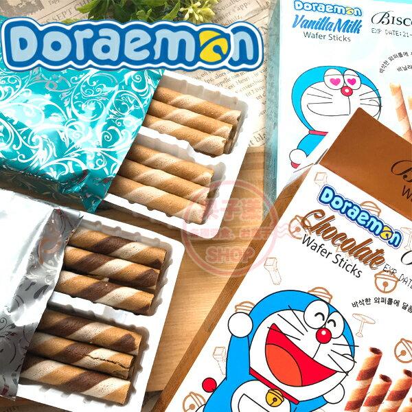 哆啦a夢捲心酥(單小盒)巧克力香草牛奶[KR442]