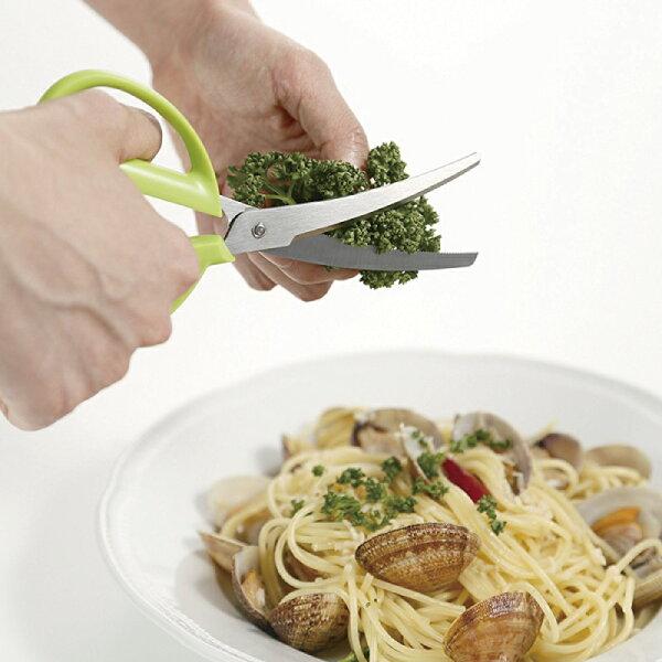 慢活屋:貝印KaiHouse可拆式曲線廚房剪刀(綠)
