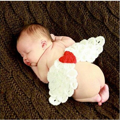 =優生活=新生兒可愛服飾 天使翅膀造型 寶寶攝影服裝服飾 寶寶滿月百天拍照服 寶寶滿月禮