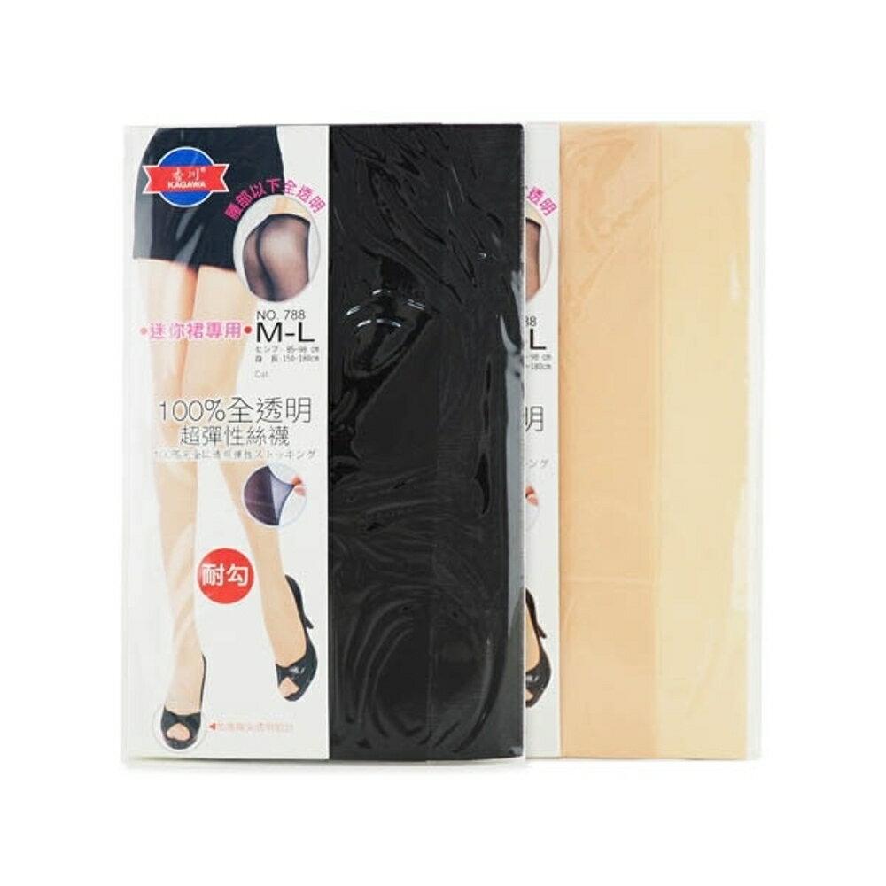 香川 100%全透明超彈性絲襪褲襪1件入(黑/膚)【小三美日】◢D600200