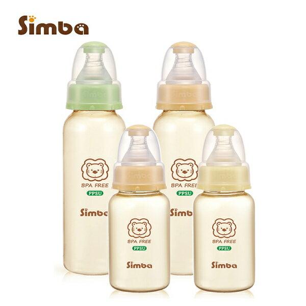 *贈PUKU海綿奶瓶刷* Simba小獅王辛巴 - PPSU標準奶瓶特惠組 (2大2小) 0