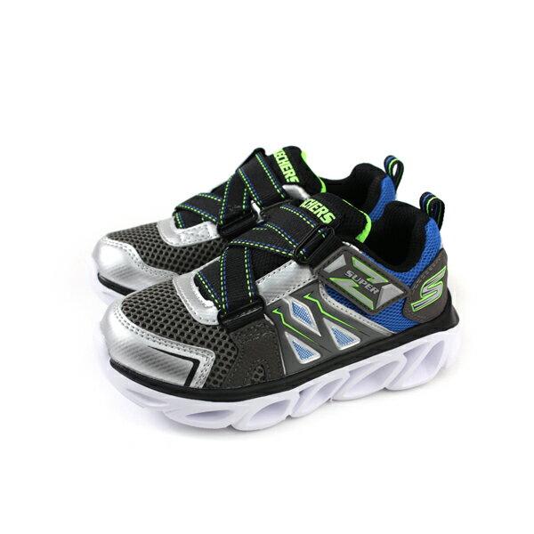 SKECHERS  LIGHTS 運動鞋 電燈鞋 童鞋 灰色 90512LSLBL no982 0