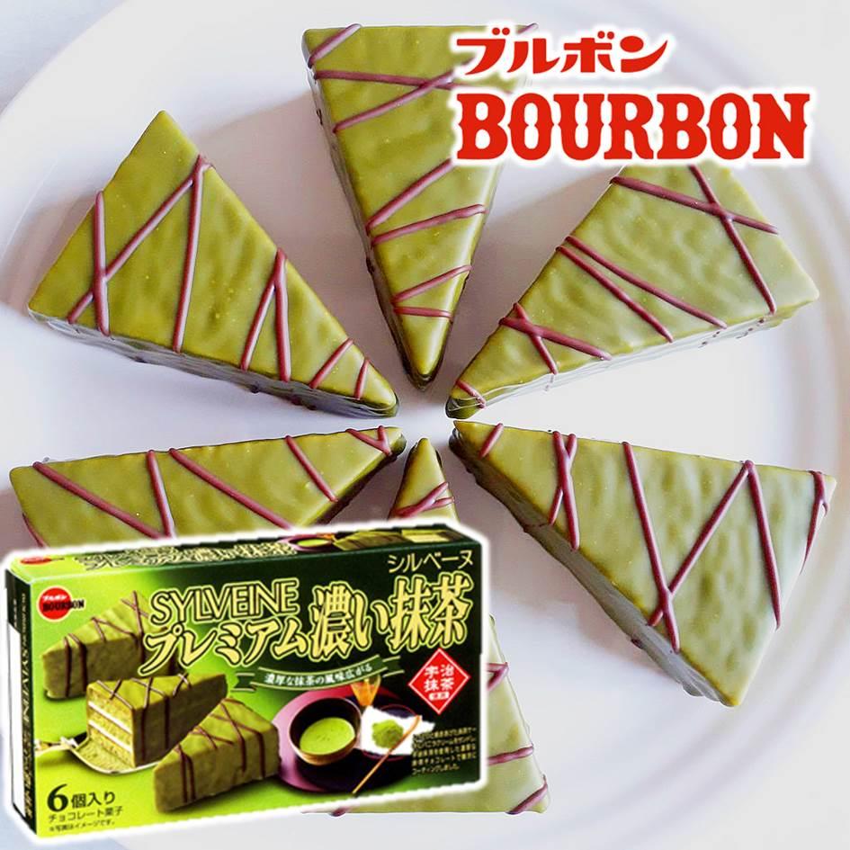 【Bourbon 北日本】SYLVEINE濃厚宇治抹茶巧克力三角蛋糕 6個入 138g シルベーヌプレミアム濃い抹茶 日本進口零食▶全館滿499宅配免運