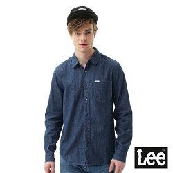 Lee 休閒彩色點狀長袖襯衫/RG-男款-藍色