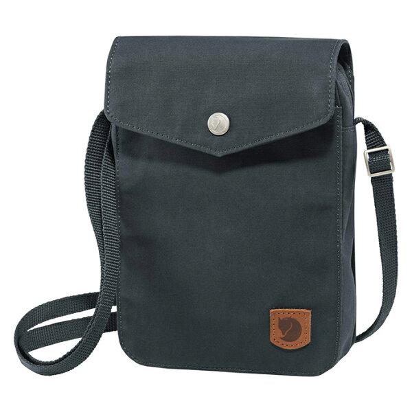 【Fjallraven小狐狸瑞典】GreenlandPocket多功能的隨身小肩包旅行隨身包護照包側肩包極灰色(23156)