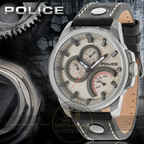 POLICE義大利國際品牌NAVIGATOR魅力型男潮流日曆腕錶14799JSU-61原廠公司貨
