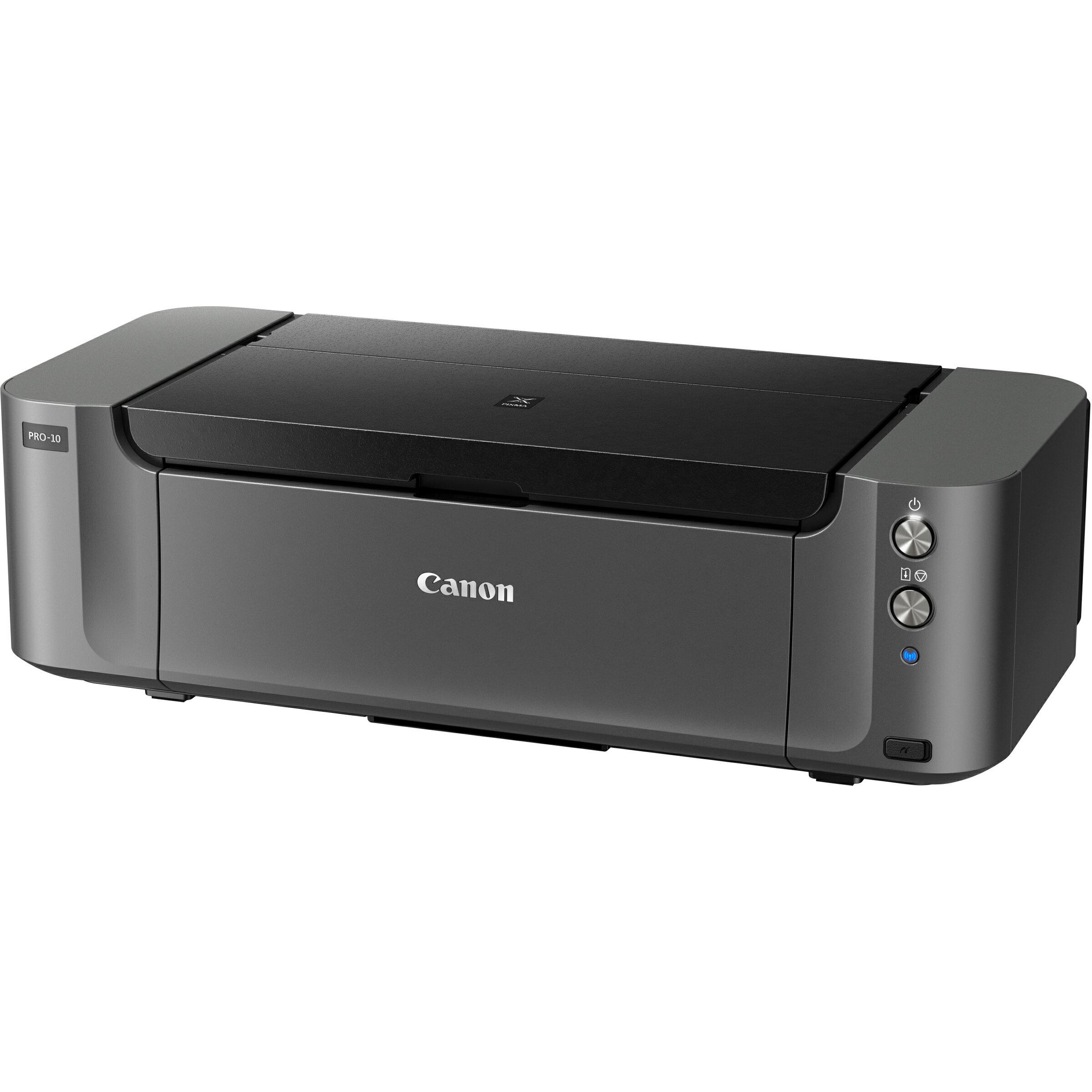 Canon PIXMA Pro PRO-10 Inkjet Printer - Color - 4800 x 2400 dpi Print - Photo/Disc Print - Desktop - 3.6 Second Photo - 150 sheets Standard Input Capacity - Ethernet - Wireless LAN - USB - PictBridge 2