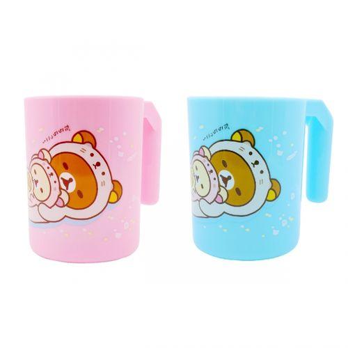 德芳保健藥妝:拉拉熊PP280cc牙刷杯-粉藍【德芳保健藥妝】