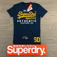 Superdry極度乾燥-男T恤推薦到跩狗嚴選 正品 極度乾燥 Superdry Logo T-shirt 上衣 短袖 短T T恤 藍灰 黃字就在DryDog 跩狗嚴選推薦Superdry極度乾燥-男T恤