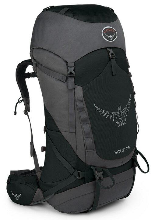 【鄉野情戶外用品店】 Osprey |美國| Volt 75 輕量登山背包 《男款》/健行背包 自助旅行背包-焦油黑/Volt75 【容量75L】