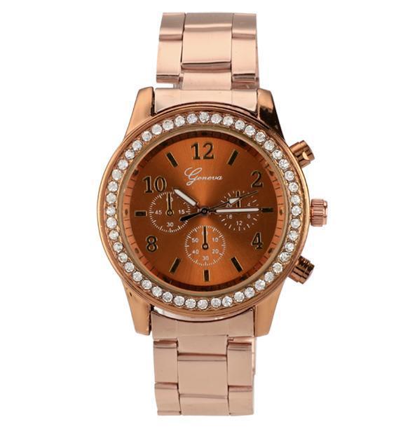 Unisex Stainless Steel Analog Quartz Wrist Watch 0