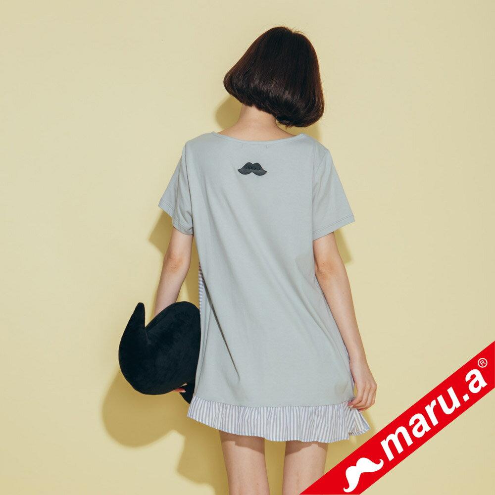 【maru.a】不對稱條紋拼接上衣 8321229 2