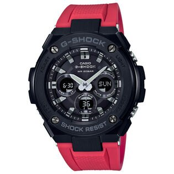CASIOG-SHOCKGST-S300G-1A4絕對強悍雙層結構雙顯太陽能腕錶50mm