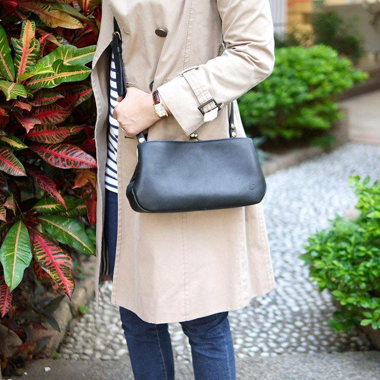 【經典推薦】主打星 真皮珠扣皮革手拿/側背包Made in Japan by CLEDRAN