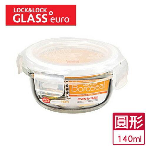 樂扣 耐熱玻璃保鮮盒圓形(140ml)【愛買】